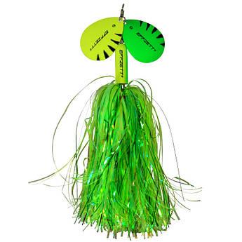 Блесна-вертушка с двумя лепестками DAM Effzett Pike Rattlin' Spinner 40гр (Fluo yellow/green)
