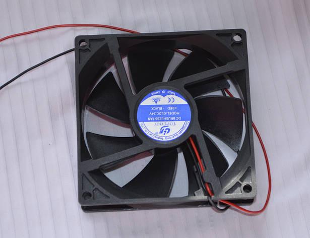 Вентилятор для сварочного аппарата Huatong 24V, 0.30А (120х120х38), фото 2