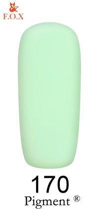 Гель-лак F.O.X Pigment 170 (бело-зелёный, эмаль),6 ml