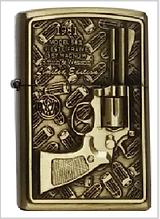 Зажигалка бензиновая «Револьвер» бронза
