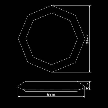 Светильник 80Вт светодиодный SMART SML-R05-80 3000-6000K с пультом, фото 2