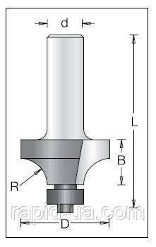 Фреза кромочная калевочная (радиусная) DIMAR R3.2 D19.1 d8