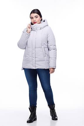 Зимняя короткая куртка пуховик очень теплый большие и малые размеры от 40 до 54, фото 2