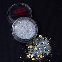 Глиттер для дизайна Гэлэкси / Galaxy Glitter PNB,  шестигранный (5 цветов) 1г