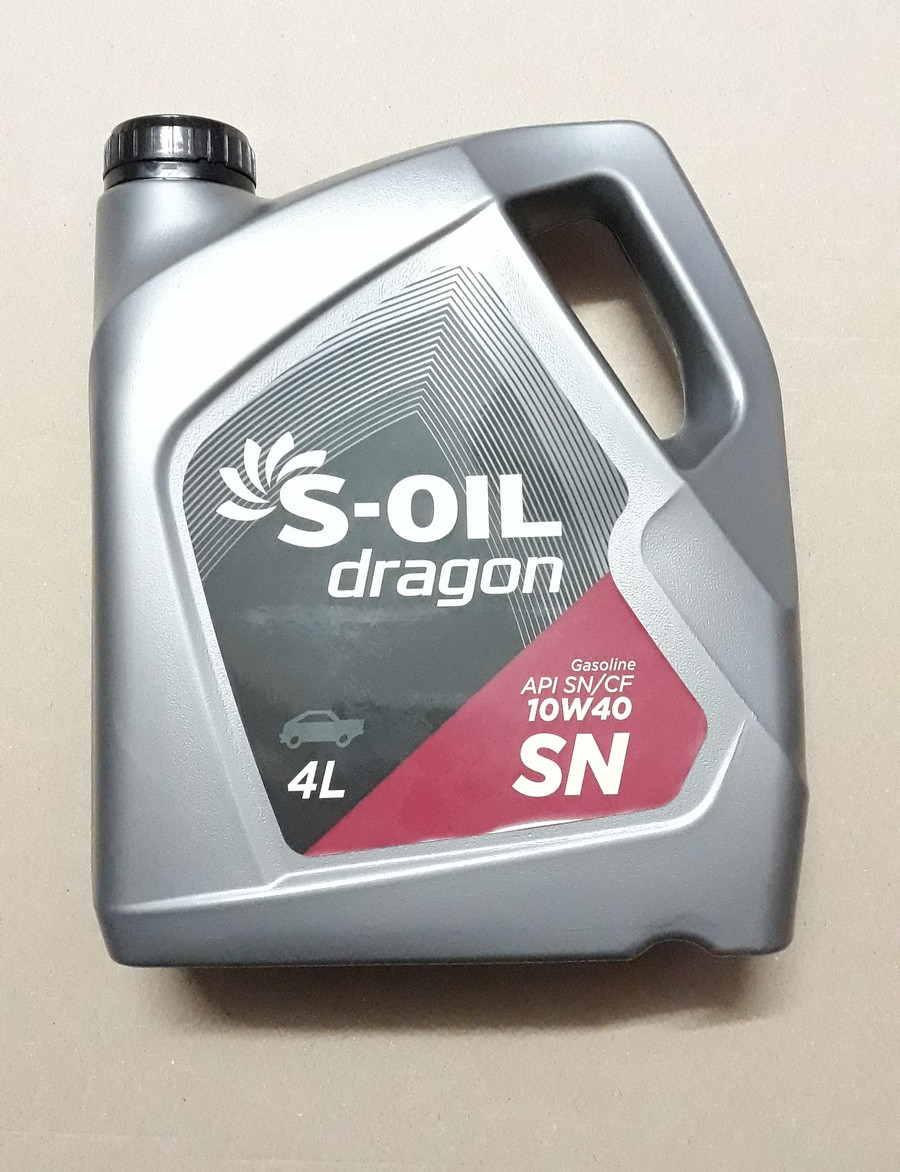 Моторное масло S-Oil 10w40 Dragon SN  4л