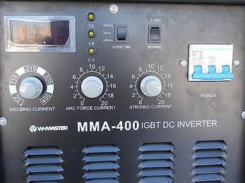 Зварювальний інвертор Wmaster MMA 400, фото 2
