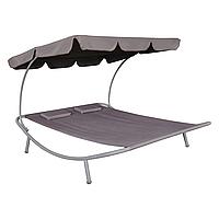 Садово-пляжный лежак с навесом 200х173 см