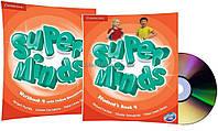 Английский язык /Super Minds/Student's+Workbook+DVD. Учебник+Тетрадь (комплект с диском), 4/Cambridge