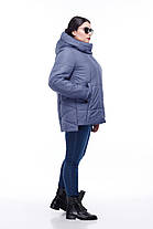 Женская короткая зимняя куртка пуховик короткий размер от 40 до 54 полномерные, фото 3