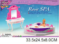 """Меблі для ляльок (кукол) типу """"Барбі"""" """"Gloria"""" 2613 (24шт) ванна кімната в кор. 33,5*8*24,5 см"""
