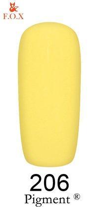 Гель-лак F.O.X Pigment 206 (одуванчиковый, эмаль),6 ml