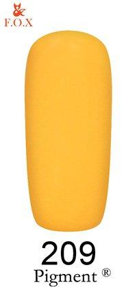 Гель-лак F.O.X Pigment 209 (блёстящий оранжевый, эмаль),6 ml