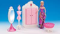 """Меблі для ляльок (кукол) типу """"Барбі"""" """"Gloria"""" 1209 (24шт) гардеробна в кор. 38,8*7,6*19,2 см"""