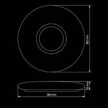 Светильник 50Вт светодиодный SMART SML-R07-50 3000-6000K с пультом, фото 2