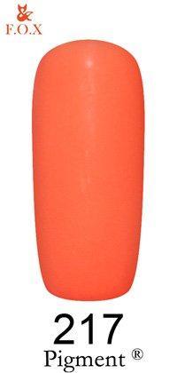 Гель-лак F.O.X Pigment 217 (яркий жёлто-розовый, эмаль),6 ml