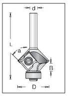 Фреза для снятия фаски DIMAR a45 R2/3  D27.3 B6.7 L57 d8 со сменными ножами, фото 1