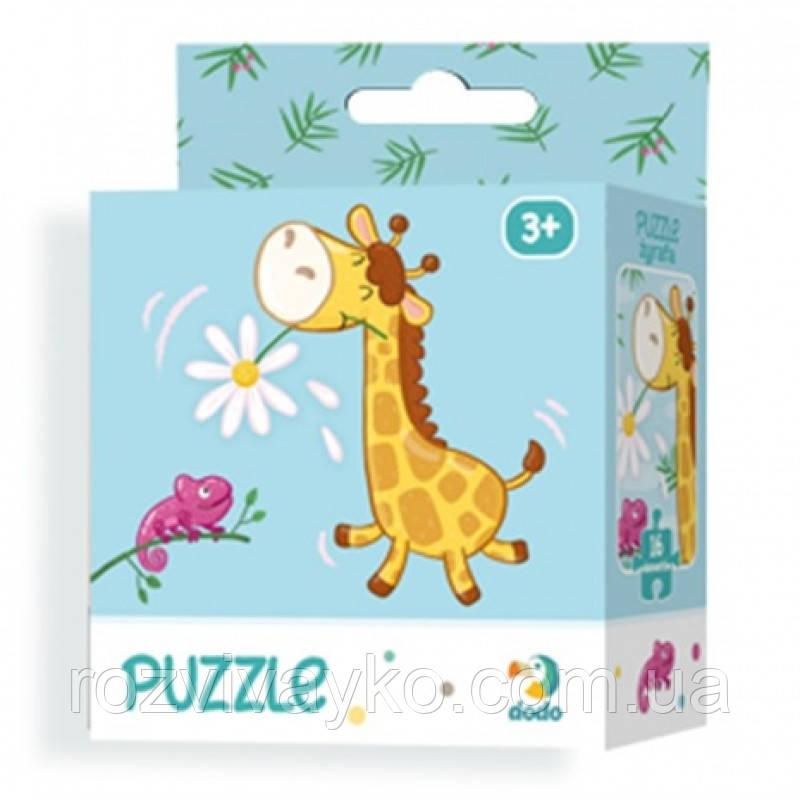 Картонный пазл Жираф / Жирафа (16 деталей), Додо / Dodo