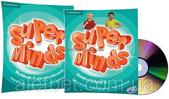 Английский язык /Super Minds/Student's+Workbook+DVD. Учебник+Тетрадь (комплект с диском), 3/Cambridge