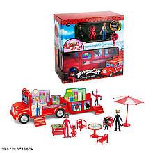 Набор игровой LDC, автобус-домик 26см, мебель, фигурки от6см, в кор. 29*28*16,5см (18шт)