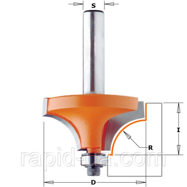 Фреза кромочная калёвочная d6.35 D31.7 h14 R9.5  с подшипником СМТ 839.317.11