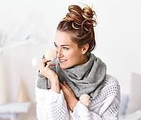 Женский вязанный большой шарф  от немецкого бренда Tсм Tchibo (чибо), Германия, фото 1