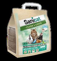Саникет Целлюлоза 7L Sanicat Clean & Green Cellulose 7L наполнитель для кошачьего туалета