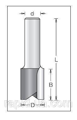 Фреза пазовая прямая DIMAR D15.8 h50.8 d12