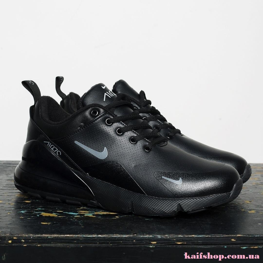 066f9841e4e873 Зимние Мужские Кроссовки Nike Air Max 270 Black, Кожаные - KAIFSHOP в  Киевской области