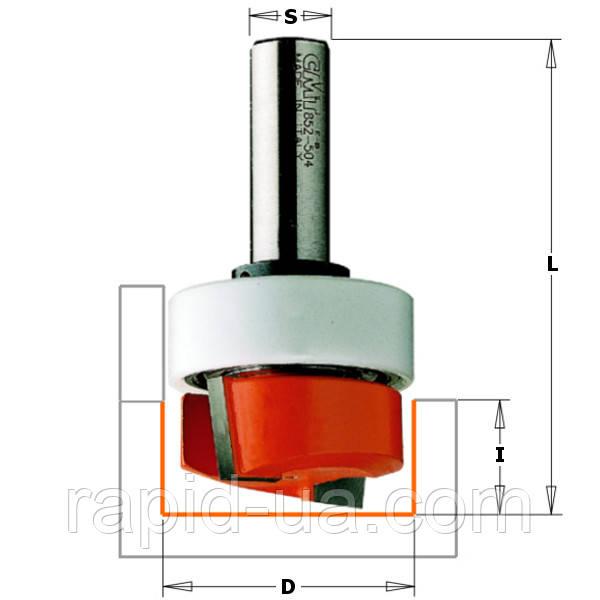 Фреза для выборки паза под петли d12.7 D38.1 L70 h16 СМТ 852.504.11B
