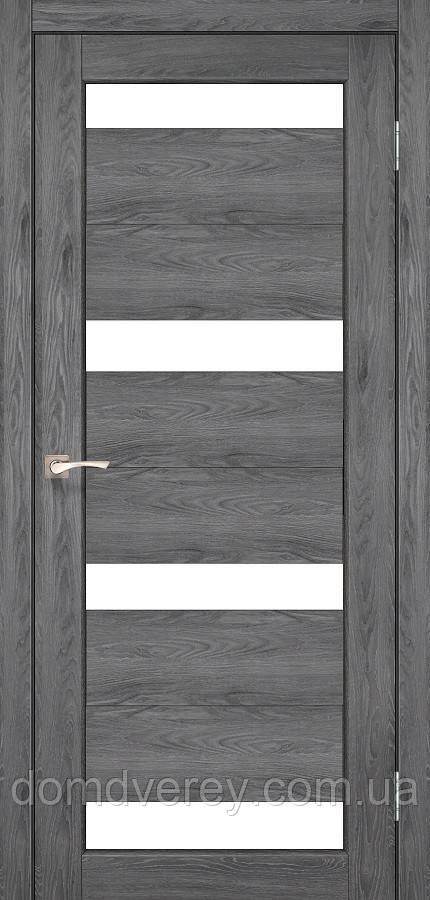 Двери межкомнатные,Korfad, Porto, PR-06, со стеклом сатин бронза