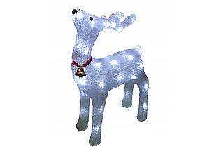 Новогодняя акриловая статуя олень RENIFER, Светящиеся новогодние олени 24 led