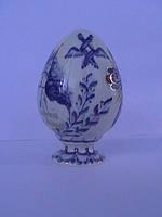 Пасхальное Яйцо малое,Свято-Успенская Святогорская Лавра фарфор, пасхальный подарок, роспись кобальтом (гжель)