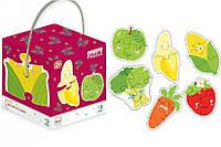 Картонные пазлы 6 в 1 Фрукты и овощи / Фрукти та овочі (2-3-4), Додо / Dodo