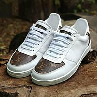 Мужские кожаные кроссовки кеды мокасины ботинки кросовки кеди мужская обувь чоловіче  взуття Louis Vuitton LV 0bd4cc5acdae0