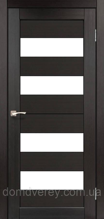 Двері міжкімнатні,Korfad, Porto, PR-07, зі склом сатин білим