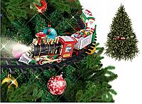 Новогоднее украшение на елку поезд Санты (Игрушечная детская железная дорога)