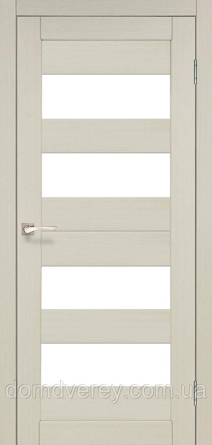 Двери межкомнатные,Korfad, Porto, PR-07, со стеклом сатин бронза