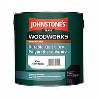 Лак для мебели JOHNSTONE'S Quick Dry Polyurethane Varnish Clear Gloss (глянцевый) 0,75 л