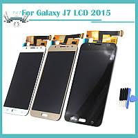 Дисплей сенсор модуль с регулировкой яркости для Samsung Galaxy J7 J700H/DS SM-J700 DUAL SIM 2015 J700F J700M