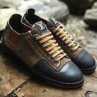 a1654cb4 Мужские кожаные кроссовки кеды мокасины ботинки кросовки кеди мужская обувь  чоловіче взуття Louis Vuitton LV