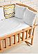 Дерев'яне ліжечко AMELI з відкидною боковиною з дугами на коліщатках, фото 2