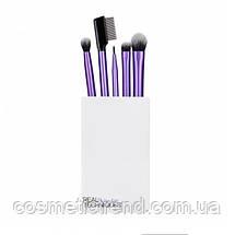 Набор кистей для макияжа глаз (5 шт+подставка/стакан) REAL TECHNIQUES Enhanced Eye Set 91534, фото 2