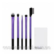 Набор кистей для макияжа глаз (5 шт+подставка/стакан) REAL TECHNIQUES Enhanced Eye Set 91534, фото 3