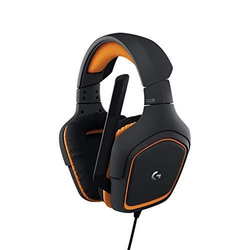 Игровые стереонаушники Logitech G231 Prodigy для Xbox One, PS4, PC с микрофоном черный/оранжевый