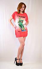 Молодежное платье-туника с принтом на груди, фото 2
