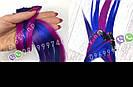 🌈 Цветные пряди как у Ники (Школа) волос на заколках, фото 8
