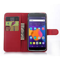 Чехол-книжка Litchie Wallet для Alcatel One Touch Idol 3 6045 (5.5) Красный