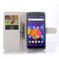 Чехол-книжка Litchie Wallet для Alcatel One Touch Idol 3 6045 (5.5) Белый