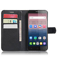 Чехол-книжка Litchie Wallet для Alcatel One Touch Pop 4 5051D (5.0) Черный