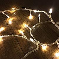 Светодиодная новогодняя гирлянда 10м, 200LЕD, белый теплый, фото 1